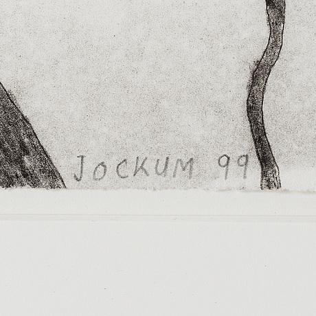 Jockum nordstrÖm, litografi, 1999, signerad med blyerts 79/140,