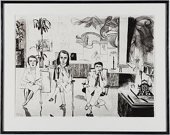 JOCKUM NORDSTRÖM, lithograph, 1999, on BFK Rives paper, signed in pencil and numbered 79/140.