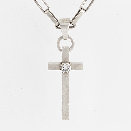 Anders hÖgberg, silver cross necklace.