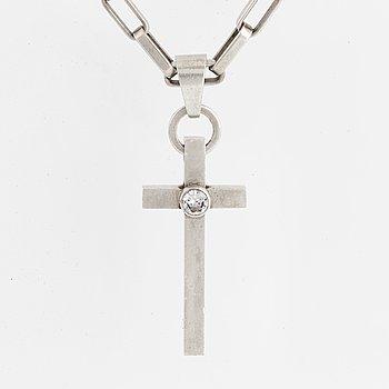 ANDERS HÖGBERG, silver cross necklace.