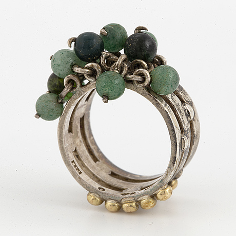 Cecilia johansson, ring with aventurine quartz.
