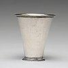 A swedish 18th century parcel-gilt silver beaker, mark of lars castman, vimmerby 1740's.