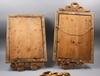 Spegellampetter, ett par, gustaviansk typ, troligen delvis 1700-tal.