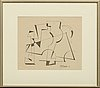 Lars englund, drawing signed and dated 49