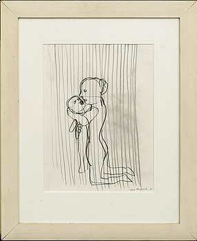 LENA CRONQVIST, drawing signed and dated 91.