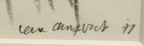 Lena cronqvist, teckning signerad och daterad 91.