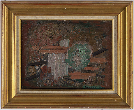 Mikhail fedorovich andreenko, oil on panel, signed
