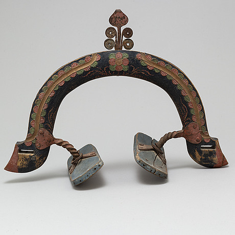 A 19th century painted wooden arc