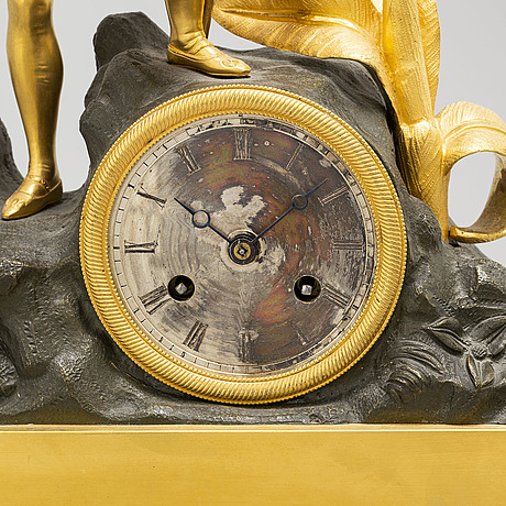 A french mid 19th century table clock