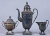 Kaffeservis, 3 delar, nysilver, 1900-tal.