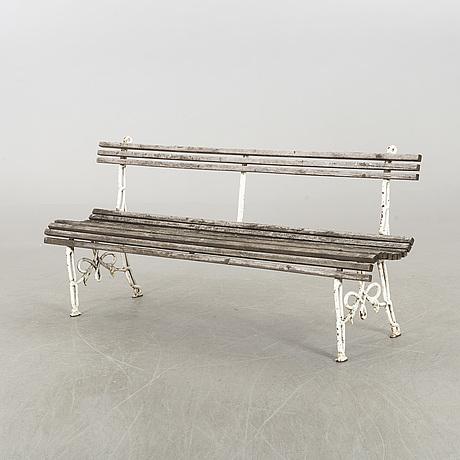 Garden bench, first half of the 20th century