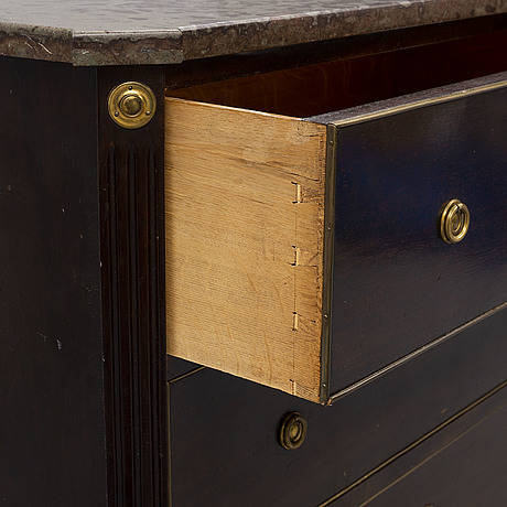 A gustavian style chest of drawers from the mid 20th century