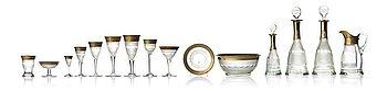 "356. A Moser glass service, ""Splendid"". (92 parts)."