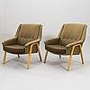 Olli borg, a pair of 1950's '2442' armchairs for asko fonland