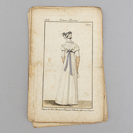 Modebilder, 24 st, 1808 & 1809.