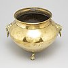 An 18th/19th century brass flower pot.
