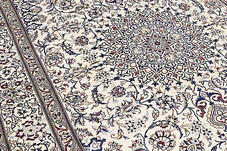A carpet, nain part silk, ca 340 x 245 cm