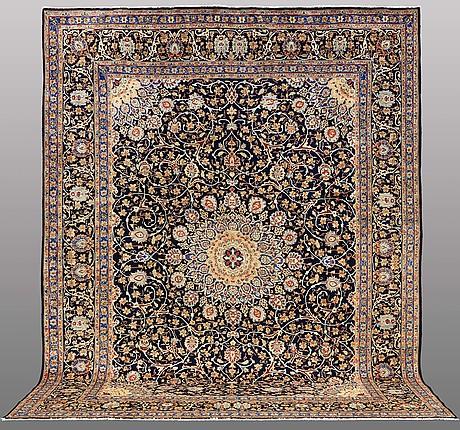 A carpet, kashmar, ca 392 x 303 cm
