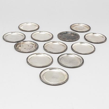 Twelve gab silver coasters, stockholm, 1959 68