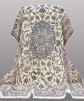 A rug, Nain part silk , s.k 6 LAA, 200 x 130 cm.