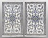 Two nain rug, 140 x 90 and 145 x 90 cm.