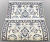 Two nain rugs, ca 137 x 67          138 x 70 cm