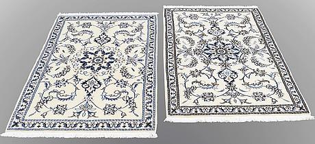 Two nain rugs, ca 136 x 87  resp 137 x 90