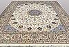 A carpet, nain, part silk , s.k 9laa , 406 x 315 cm