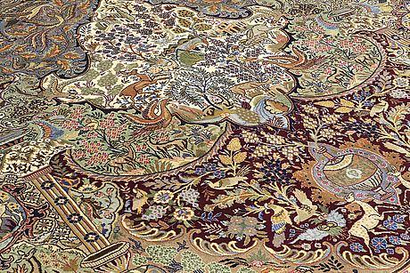 Matta, figural kashmar, ca 389 x 297 cm.
