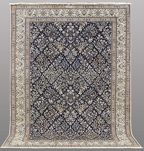 A carpet, nain, part silk , so called 6 laa, ca 296 x 203