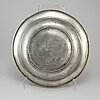 An 18th century pewter bowl.