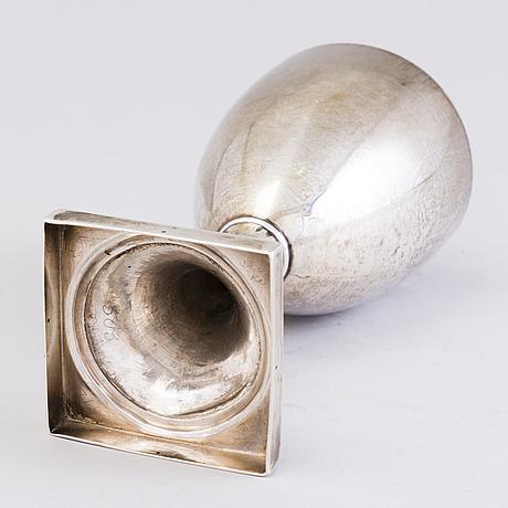 A goblet, silver, sheffield 1787, luke proctor & co