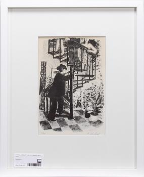 LENNART JIRLOW, litografi, sign o numr 11/60.