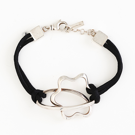 A montblanc necklace, ring and bracelet in silver