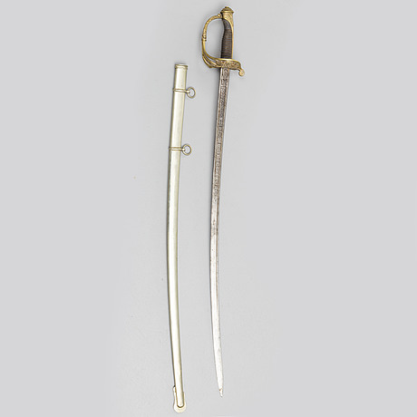 A spanish infantery sword, pattern 1851, dated 1870.