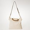 Gucci leather bamboo tote bag