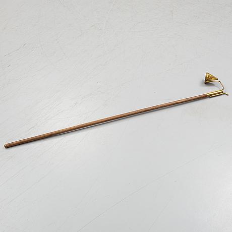 LjusslÄckare, mässing och trä, 1800-tal.