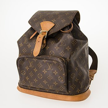 "LOUIS VUITTON, ""Montsouris  GM"", RYGGSÄCK."