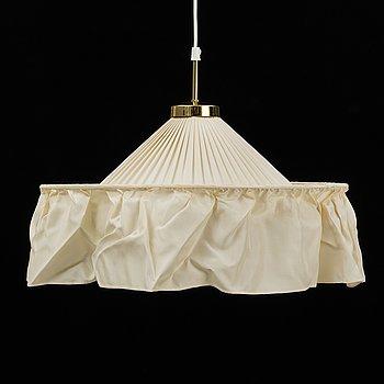 JOSEF FRANK, a model 2560 brass and textile ceiling lamp, for Firma Svenskt Tenn.