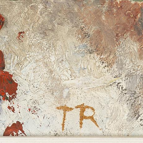 Torsten renqvist, oil on panel, signed