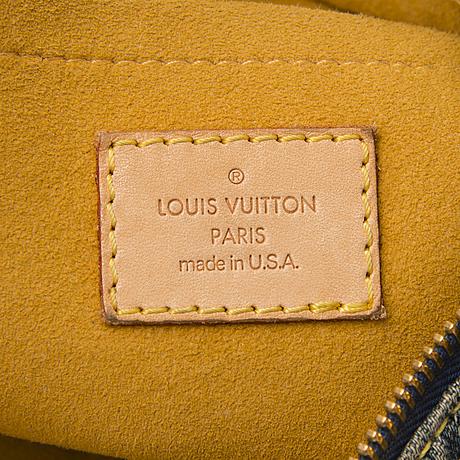 Louis vuitton denim monogram baggy pm bag with a purse