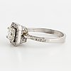 Princess cut and brilliant cut diamond ring