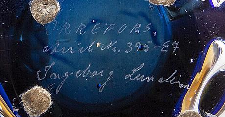 An ariel glass bowl by ingeborg lundin, signed nr 395 e7