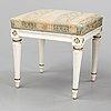 A gustavian stool, late 18th century.