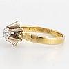 Circa 0.42 ct brilliant-cut solitaire diamond ring.