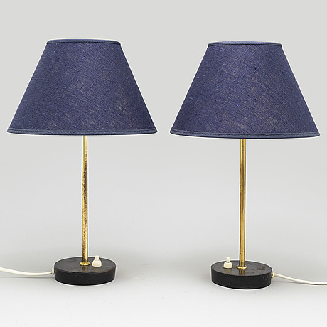A pair of mid 20th century table lamps
