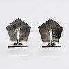 Wiwen nilsson, cufflinks, sterling silver, lund 1961