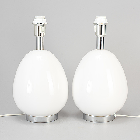 A pair of ceramic table lamp, from bergboms, 1960/70s.