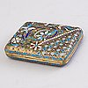 A box, silver and enamel, moscow ca 1900, probably dmitri nikolayev