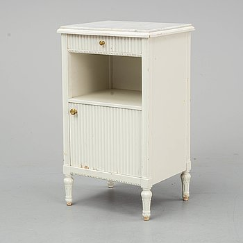 A early 20th century bedside table.